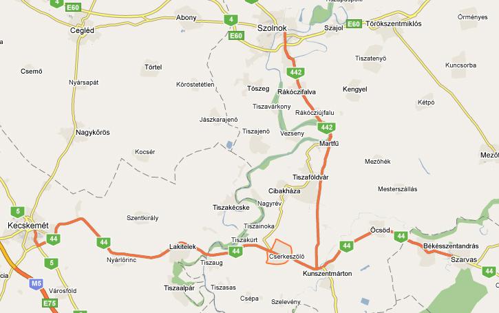 budapest cserkeszőlő térkép Cserkeszőlő Szállások   Hőforrás szállások budapest cserkeszőlő térkép